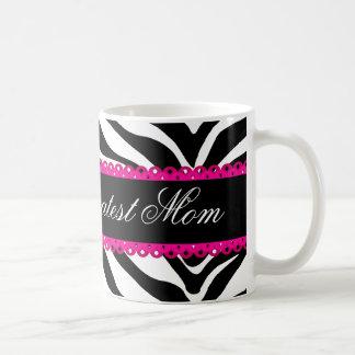 Gestreepte Druk van het Mamma van de wereld de de Koffiemok