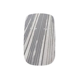 Gestreepte grijze/bruine minx spijkers minx nail folie