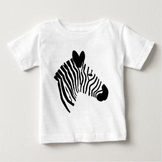 Gestreepte hoofdillustratie zwarte witte kinder baby t shirts
