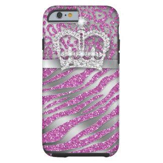 Gestreepte iPhone 6 van de Kroon Taaie Juwelen sch Tough iPhone 6 Hoesje