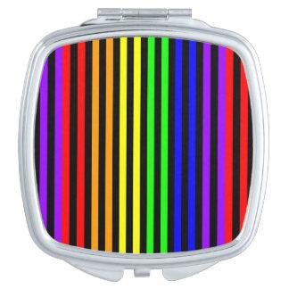 Gestreepte regenboog handtas spiegeltje
