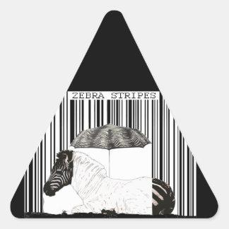 Gestreepte Streepjescode Driehoek Stickers