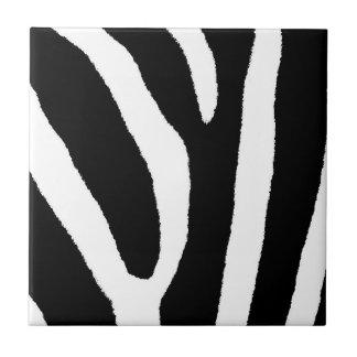 GESTREEPTE STREPEN (een Zwart & Wit ontwerp) Tegeltje Vierkant Small