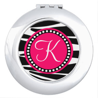 Gestreepte Strepen met het Hete Roze Gebied van Makeup Spiegels
