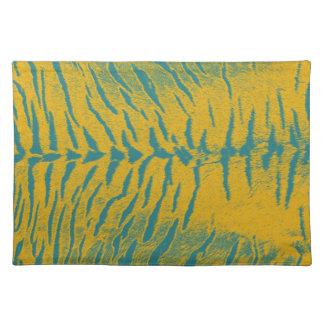 Gestreepte tijger 5 van de kunst placemats