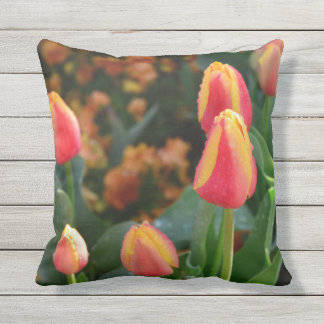 gestripte tulp throwpillow sierkussen