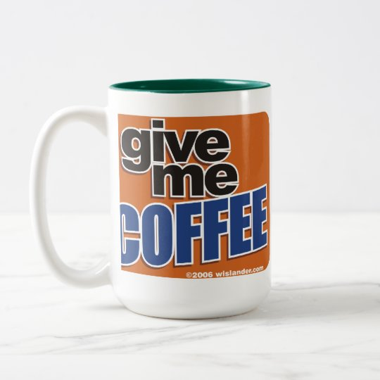 Getelegrafeerde Koffie 1 Tweekleurige Koffiemok
