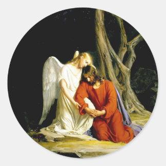 Gethsemane Carl Bloch Ronde Sticker
