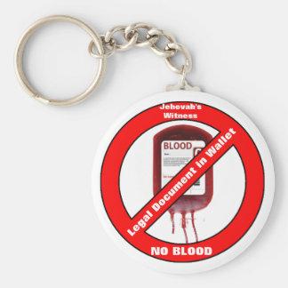 Getuige van Jehova Geen Bloed Sleutelhanger