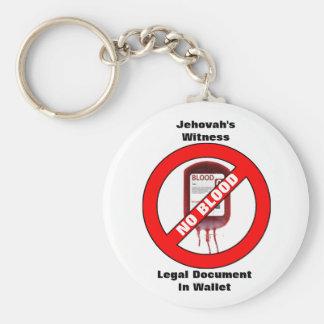 Getuige van Jehova - Geen Bloed - Zeer belangrijke Sleutelhanger