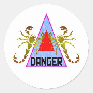 Gevaar Ronde Stickers
