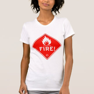 Gevaar van de Brand van het Waarschuwingssein van T Shirt