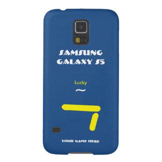 Geval 7 van de Melkweg van Samsung gelukkig Blauw Galaxy S5 Hoesje