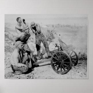 Gevangen Artillerie Poster