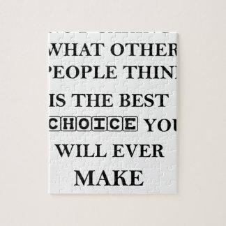 gevend niet is wat andere mensen denken het beste puzzel