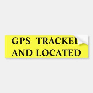GEVESTIGD GEVOLGD GPS BUMPERSTICKER