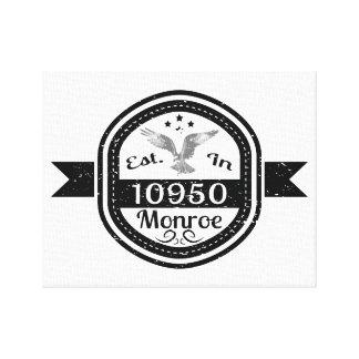 Gevestigd in 10950 Monroe Canvas Print