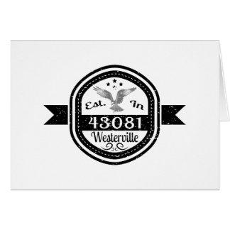 Gevestigd in 43081 Westerville Briefkaarten 0