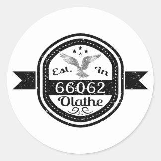 Gevestigd in 66062 Olathe Ronde Sticker
