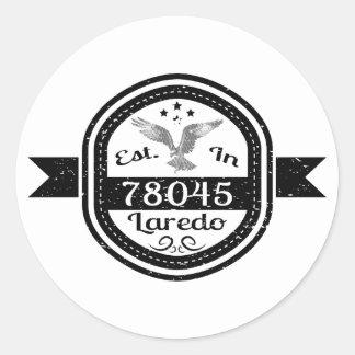 Gevestigd in 78045 Laredo Ronde Sticker