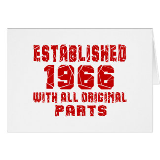 Gevestigde 1966 met Alle Originele Delen Wenskaart