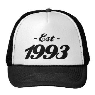 gevestigde 1993 - verjaardag petten met netje