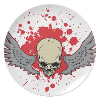 Gevleugeld-schedel Bord