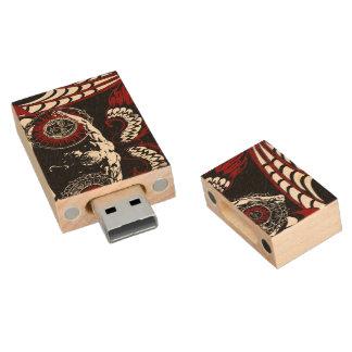 Gevleugelde gevallen engel USB, 8gb, Rechthoek Houten USB 2.0 Stick