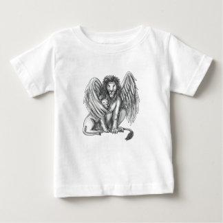 Gevleugelde Leeuw die het Tattoo van de Welp Baby T Shirts
