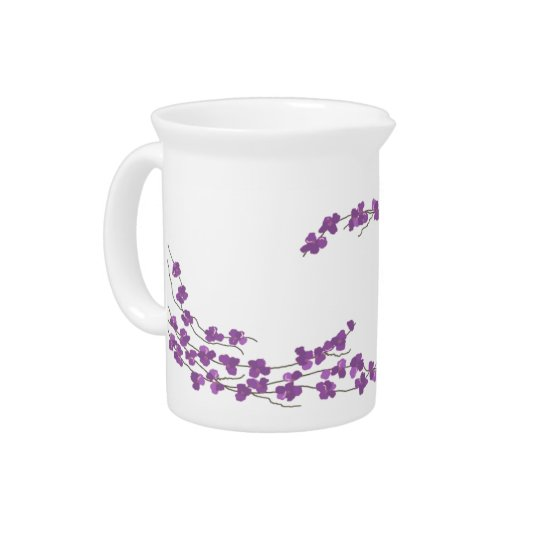 Gevoelige Paarse Bloesems Drank Pitcher