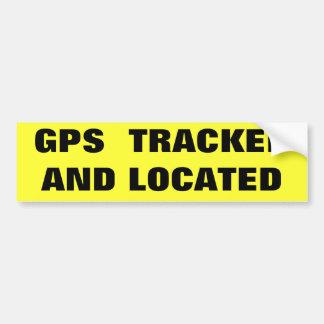 GEVOLGD EN GEVESTIGD GPS BUMPERSTICKER