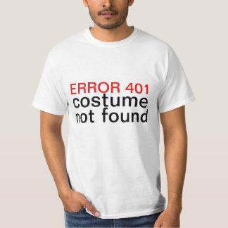 Gevonden niet van het Kostuum van Halloween Fout T Shirt