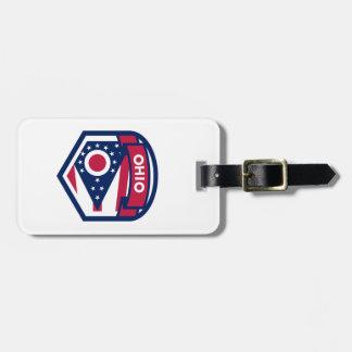Gevormd CREST van de Vlag van de Staat van Ohio Kofferlabels