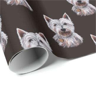 Gevormde de Illustratie van de Hond van Terrier Inpakpapier