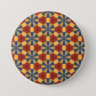 Gevormde knoop ronde button 7,6 cm
