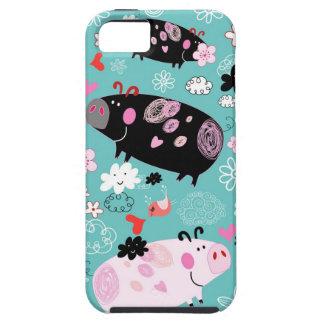Gevormde Piggies Tough iPhone 5 Hoesje