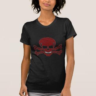 Gevormde schedel en gekruiste knekels t shirt