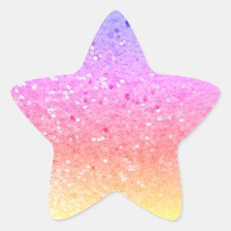 Gevormde ster: De regenboog schittert Stickers