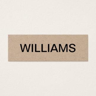 Gewaagd minimalistisch modern visitekaartje mini visitekaartjes