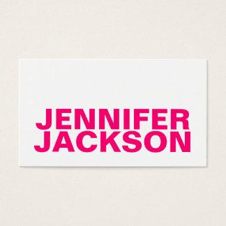 Gewaagd roze minimalistisch koel visitekaartje visitekaartjes