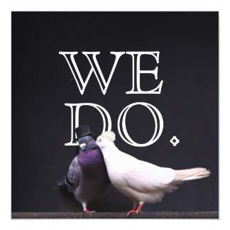 Gewaagde Bruid & Bruidegom Birds We Do Wedding Kaart