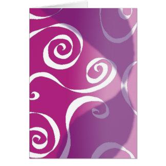 Gewaagde Funky Rollen - omgekeerd roze-mengsel Briefkaarten 0