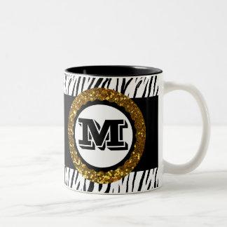 Gewaagde & Verfijnde Wilde Gouden Zwart van het Tweekleurige Koffiemok