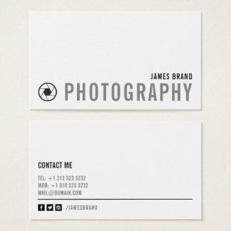 Gewaagde Zwart-witte Fotograaf Visitekaartjes