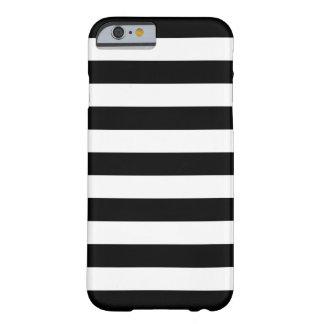 Gewaagde Zwart-witte iPhone 6 van Strepen hoesje