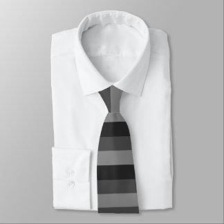 gewaagde zwarte en grijze strepen custom stropdassen