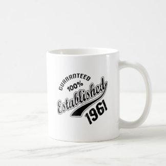 Gewaarborgde 100% vestigde 1961 koffiemok