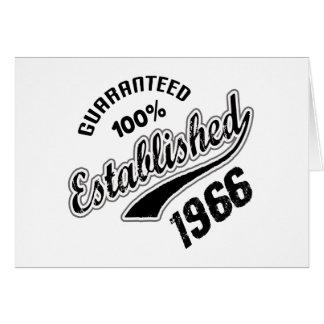Gewaarborgde 100% vestigde 1966 wenskaart
