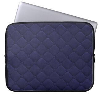 Gewatteerd kijk Marineblauw Laptop Sleeve