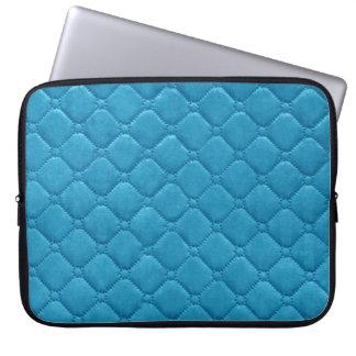 Gewatteerd kijk Turkoois Laptop Sleeve